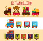 彩色玩具火车