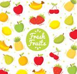 新鲜水果无缝背景