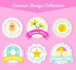 可爱夏季徽章
