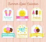 可爱夏季吊牌徽章