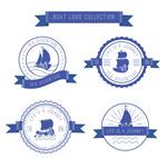 创意丝带船舶标志