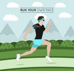 跑步健身男子