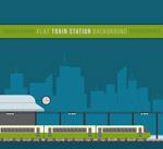 扁平化火车站