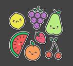 可爱水果贴纸