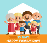 扁平化国际家庭日