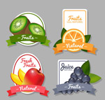 彩色水果标签
