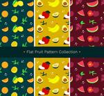 彩色水果无缝背景