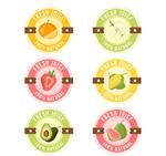 圆形新鲜果汁标签