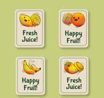 手绘水果卡片