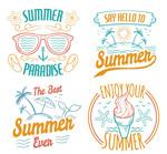 夏日假期艺术字
