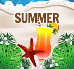 夏季沙滩鸡尾酒