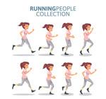 创意跑步女子