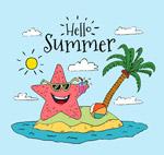夏季岛屿度假海星