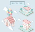 粉色立体房屋设计
