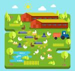 绿色农场设计矢量