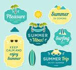 夏季度假标签矢量
