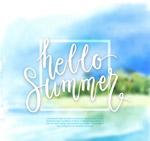 你好夏季模糊风景