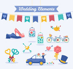 彩色婚礼元素