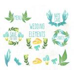 彩绘婚礼元素
