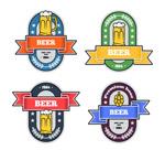 彩色啤酒标签