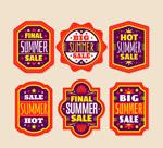 夏季折扣标签