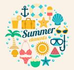 夏季元素设计