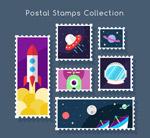 太空元素邮票