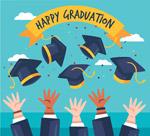毕业欢呼人群手臂