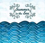 夏季大海蓝色海浪