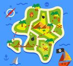 绿色藏宝地图