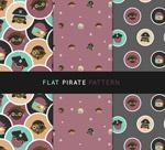海盗头像无缝背景