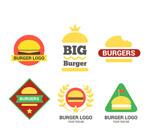 彩色汉堡包标志