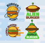 创意汉堡包标志