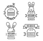 黑色汉堡包标志