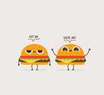 可爱卡通汉堡包