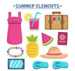 夏季沙滩度假物品