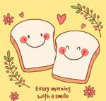彩绘笑脸面包片