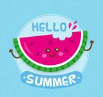 夏季笑脸西瓜牙