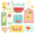 夏季吊牌和食物