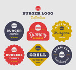 复古汉堡包标志