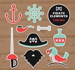 海盗元素贴纸