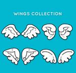 手绘白色翅膀