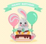 �^生日的灰色兔子