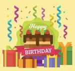 生日蛋糕和�Y盒