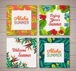 夏威夷花卉卡片