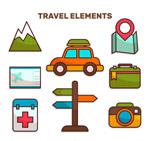 旅行元素贴纸