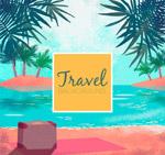 水彩绘旅行风景