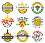 彩色披萨店标志
