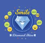 笑脸钻石和表情圆脸