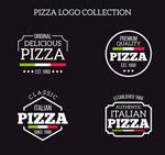 精致白色披萨标志